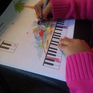 Music for Little Mozarts Work Book at Music Matters piano lessons.
