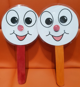 Music Matters 2 Happy Face Puppets on sticks