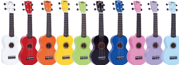 Music Matters Coloured Ukuleles