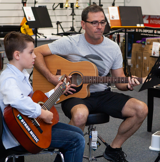 Music Matters Connor and Dad perform together