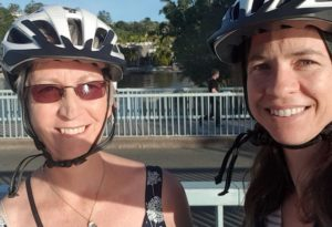 Heather and Heidi at Noosa electric bikes July 2019