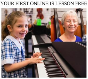 Ask for your first free online lesson or in person lesson
